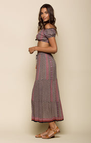 Delia Tiered Maxi Skirt