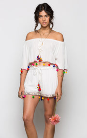 Havana Daze Off Shoulder Crop Top