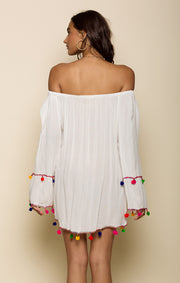 Havana Daze Off Shoulder Mini Dress