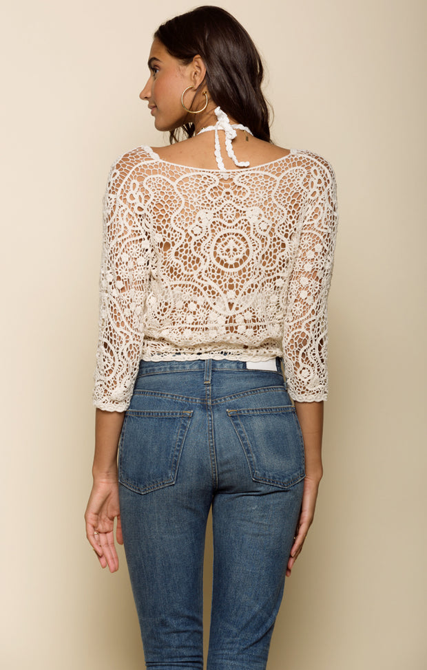 Medallion Sunrise Tie Top