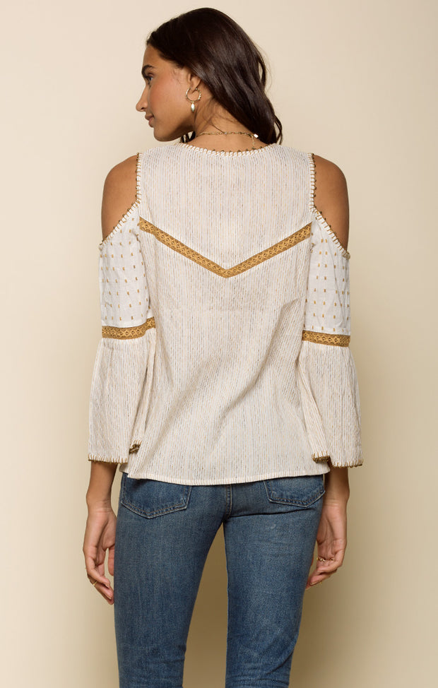 Hazel Cold Shoulder Blouse
