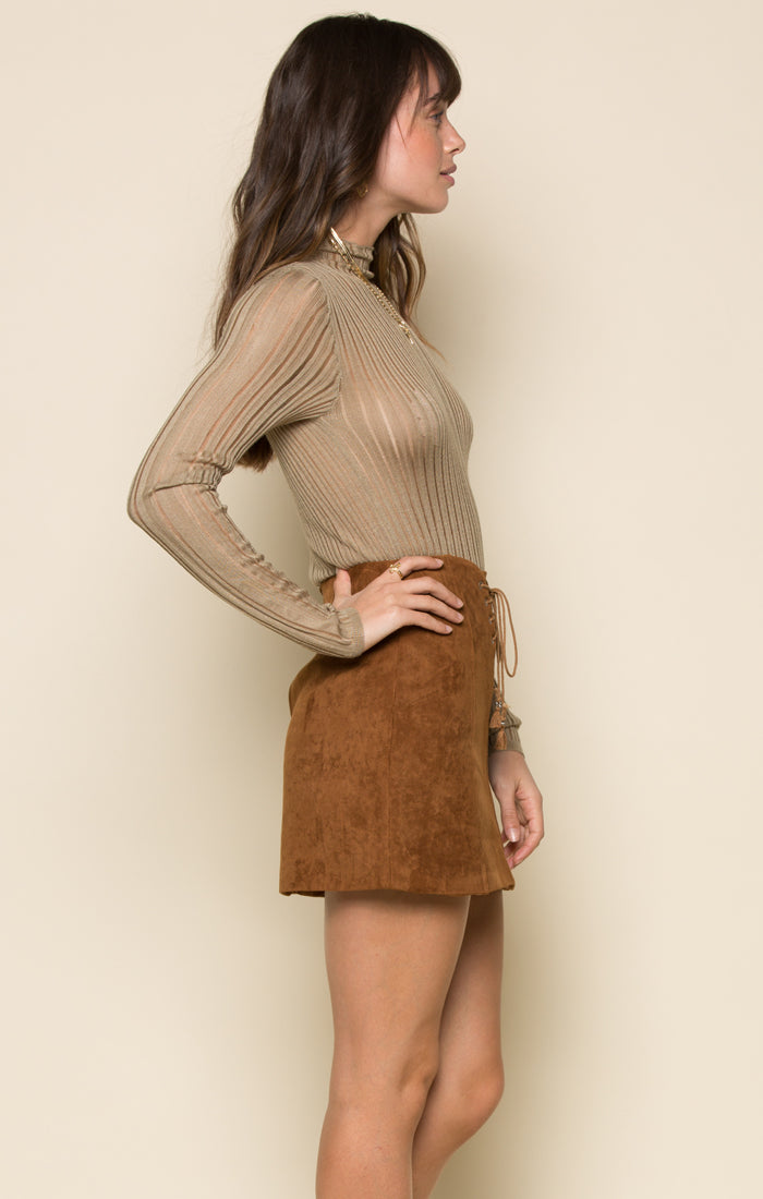 RIVKA FAUX SUEDE SKIRT