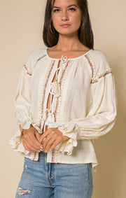 Lyra Tie-Front Blouse