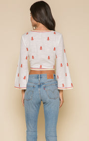 Ruth Tie-Front Crop Top