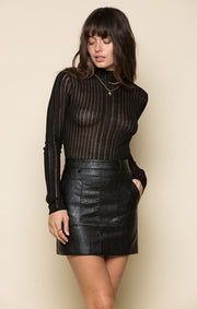 Nyla Faux Leather Skirt
