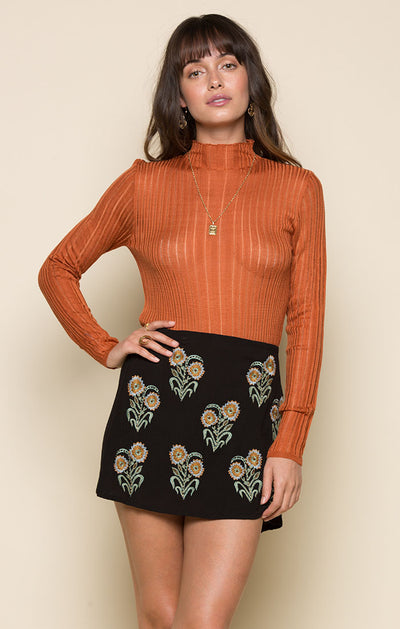 Quinn Mock Neck Top