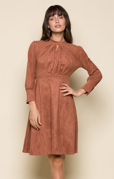 KIERA FAUX SUEDE DRESS