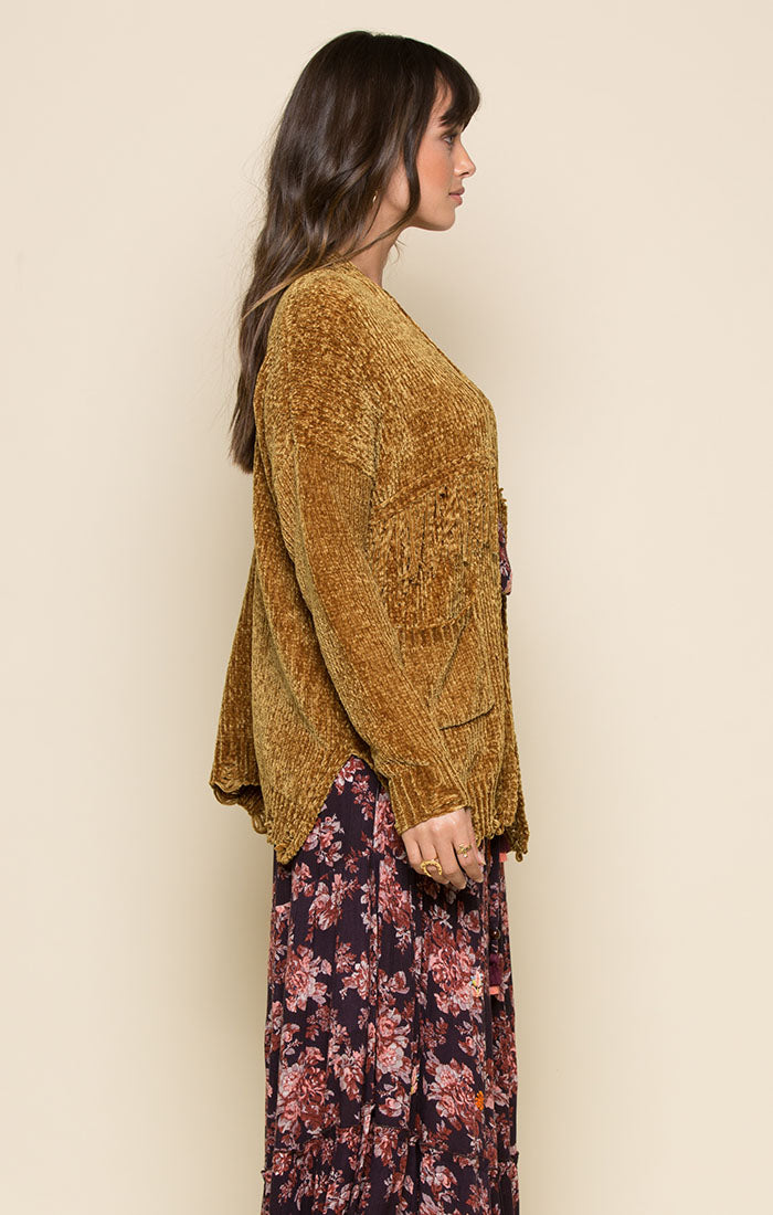 NICKI FRINGE CARDIGAN