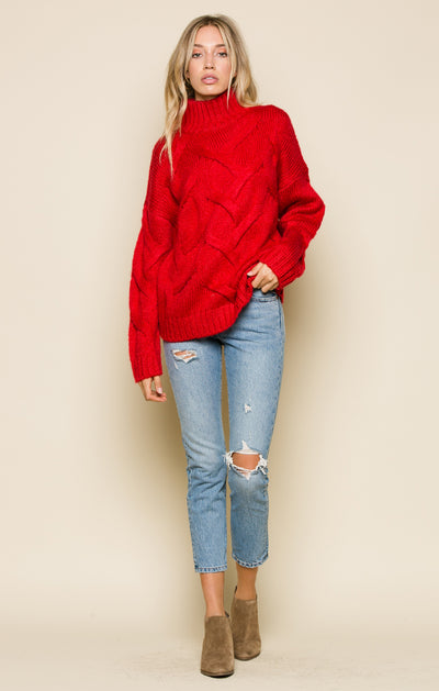 MIKAYLA MOCK NECK SWEATER