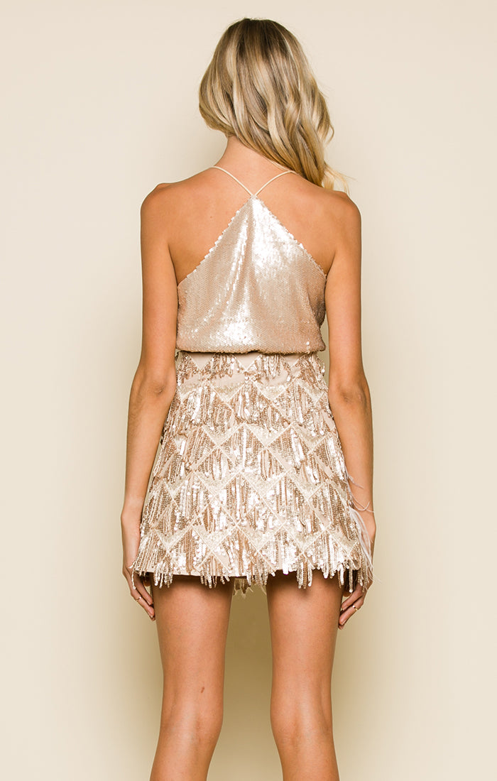 PALOMA SEQUIN SKIRT