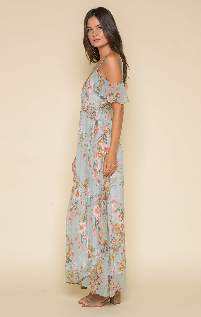 Morning Bloom Wrap Maxi Dress