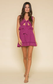 Loretta Sleeveless Tie Mini Dress