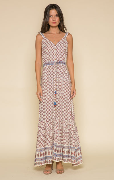 Avah Ruffle Strap Maxi Dress