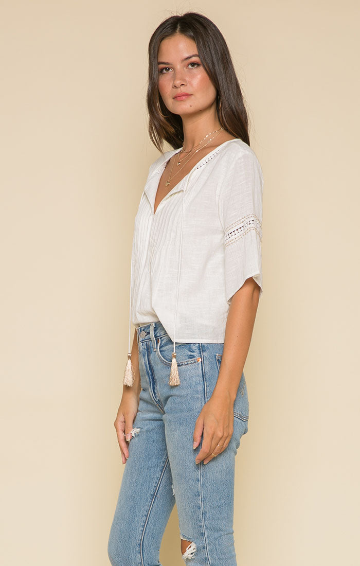 Bianca Pleated Top