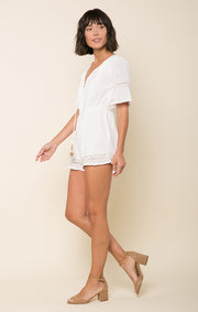 Bianca Pleated Romper