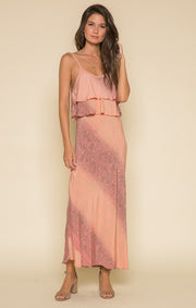 Rustic Romance Ruffle Maxi Dress
