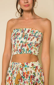 My Paradise Smocked Crop Top
