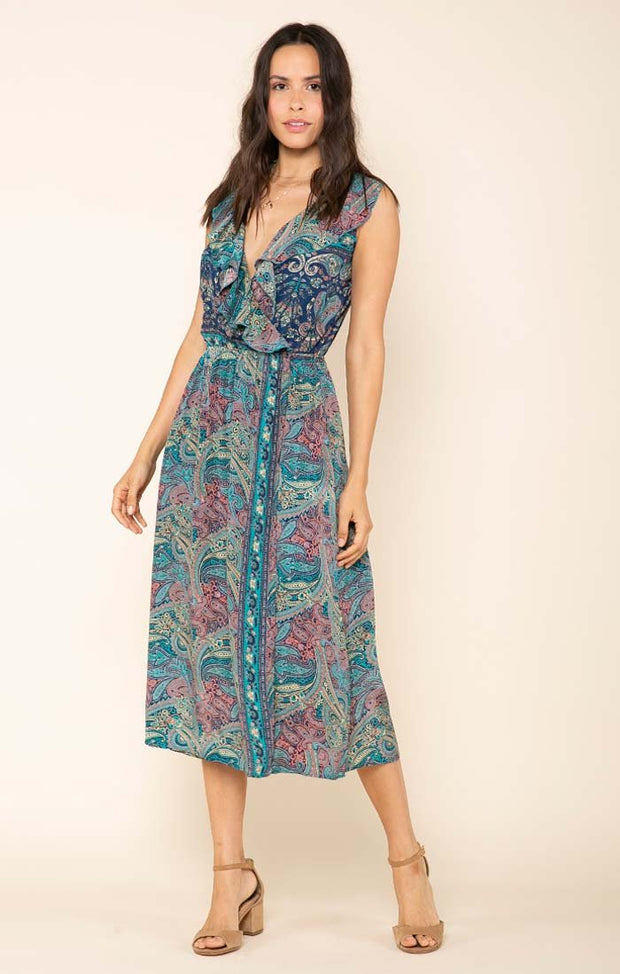 Mystic Garden Wrap Dress