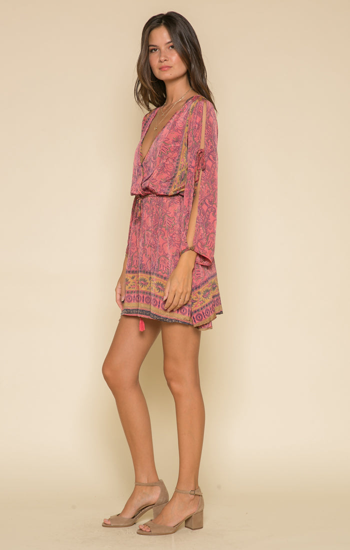 Passion Struck Slit Sleeve Dress