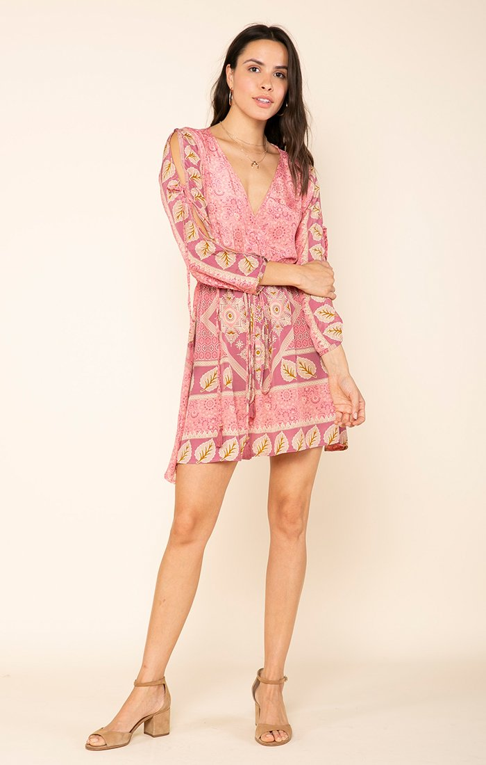 Love Maze Slit Sleeve Dress