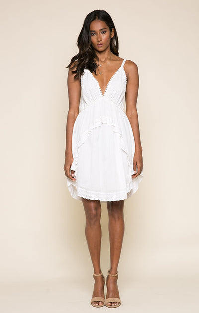 Aviana Eyelet Short Dress