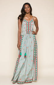 Lodi Gardens Split Seam Maxi Dress