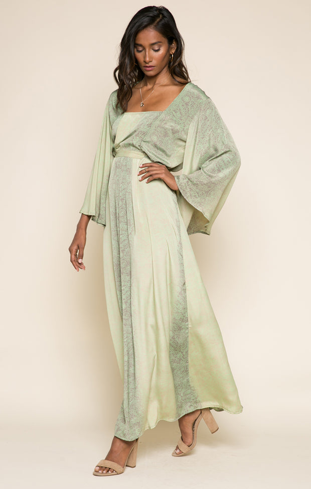 Rustic Romance Tie Maxi Dress