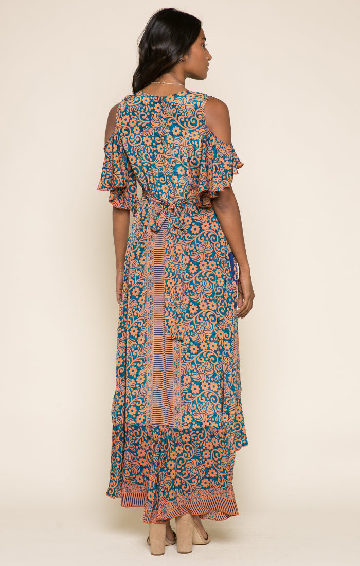 Bonfire Haze Wrap Dress