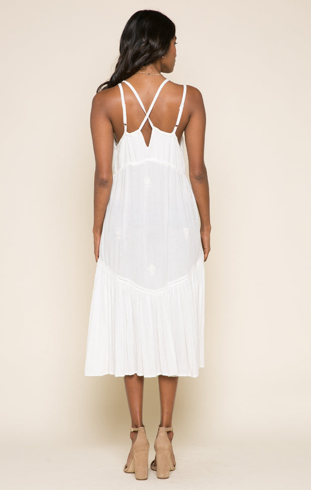Enduring Kiss Strappy Midi Dress