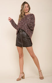 Harlee Faux Leather Skirt