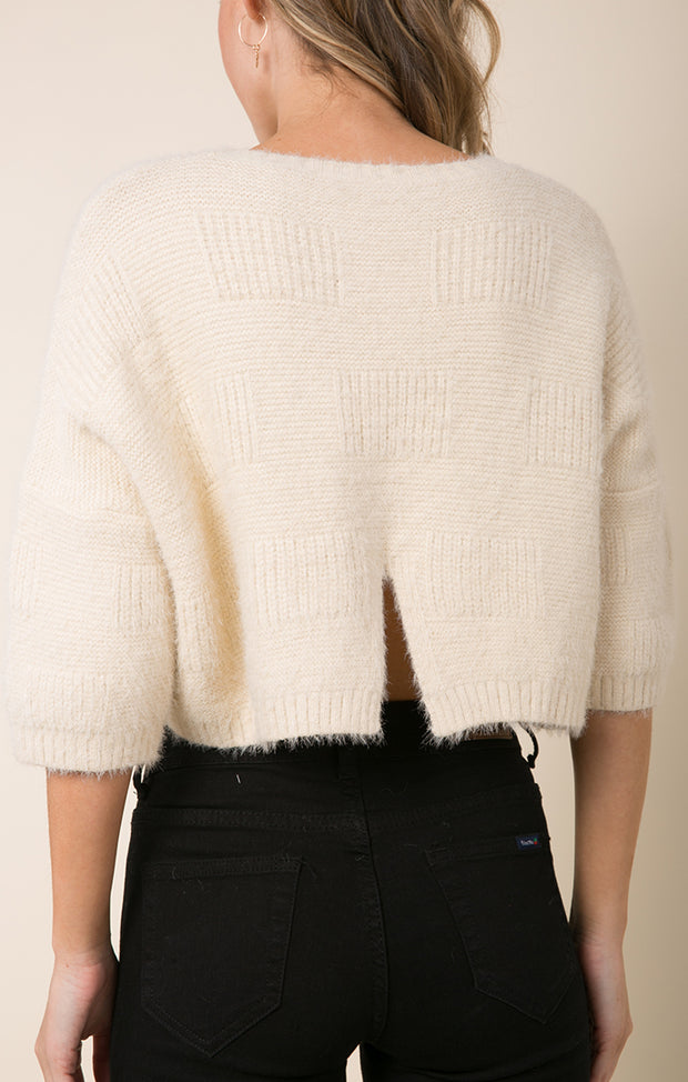 CARLA CROPPED SWEATER
