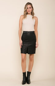 Lennox Faux Leather Skirt