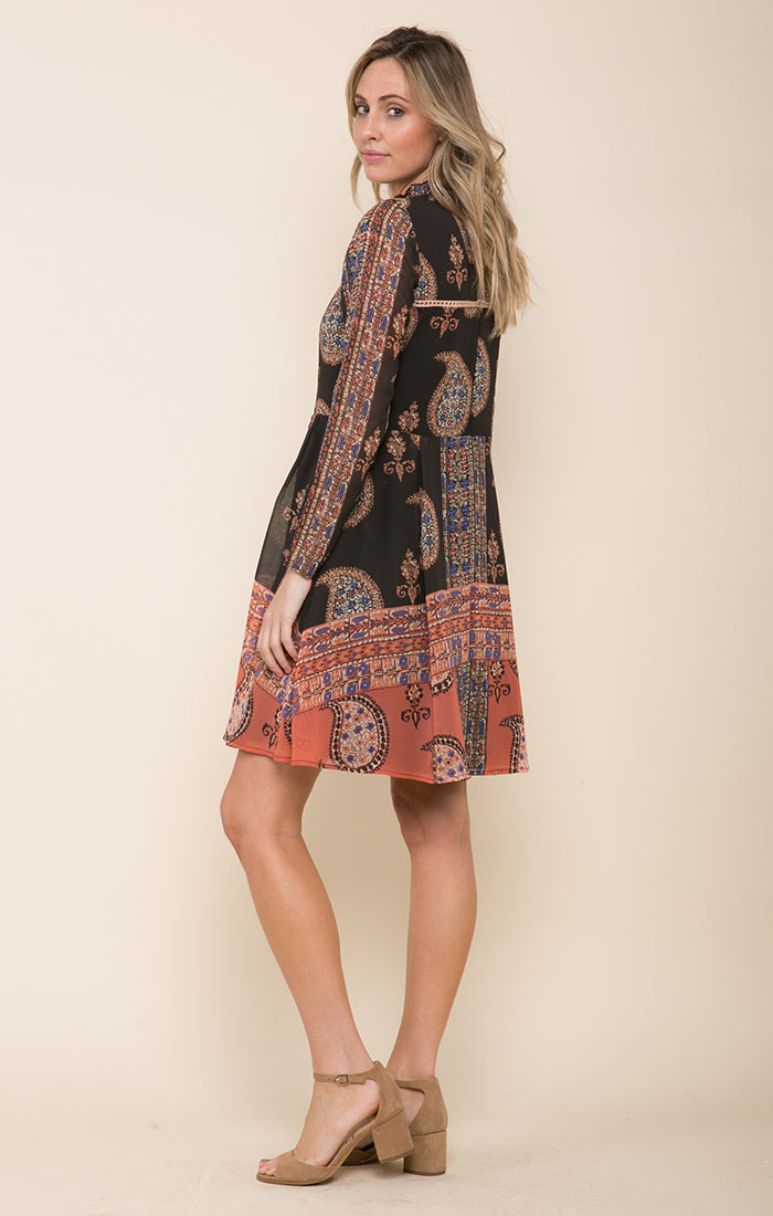 Sunset Glow High Neck Dress