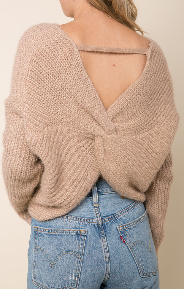 Carter Twist Back Sweater