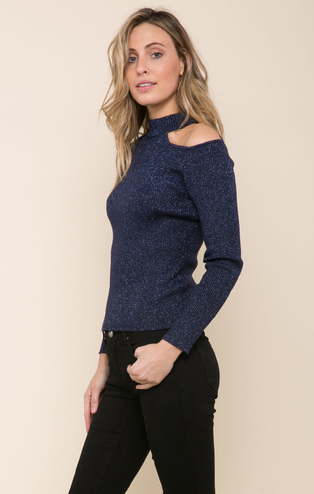 Orion Cutout Shoulder Sweater