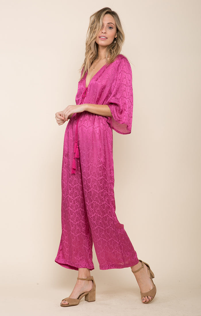 SWEET TEMPTATION TIE-FRONT JUMPSUIT