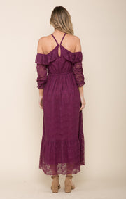 Laney Lace Halter Maxi Dress