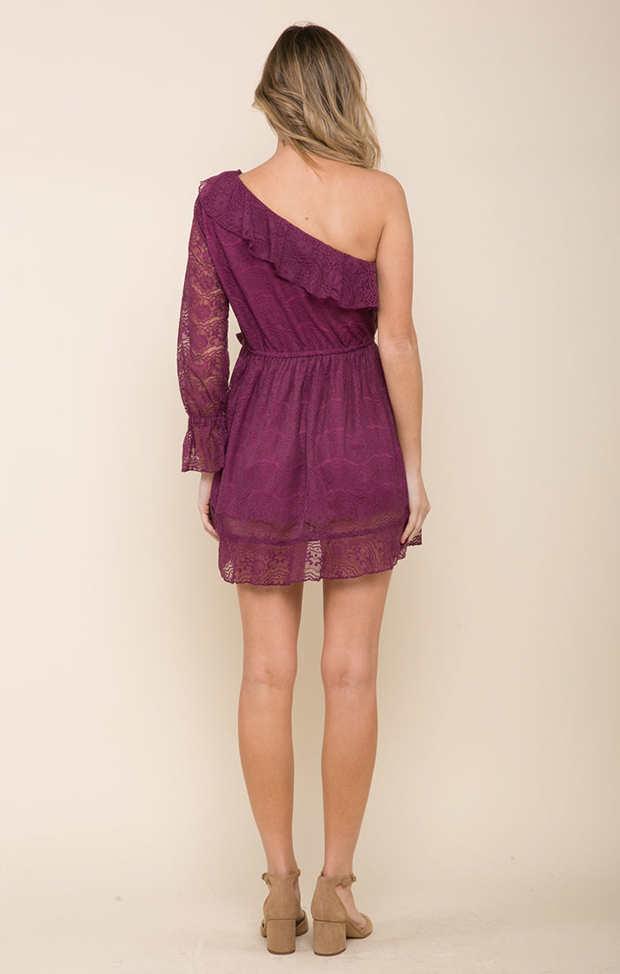 Laney Lace One Shoulder Mini Dress