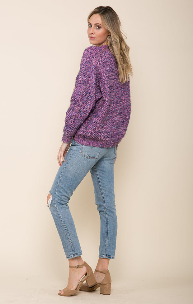 LILAC LOVE PULLOVER SWEATER