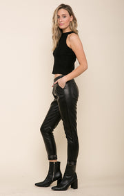 Harlee Faux Leather Pant