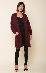 Fine Wine Duster Sweater