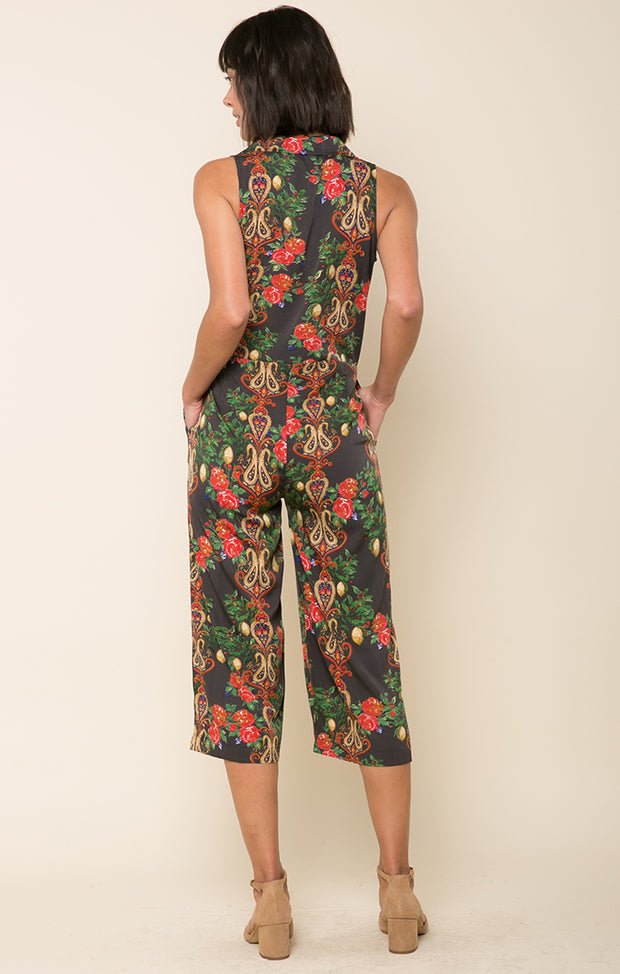 Crimson Love Surplice Jumpsuit