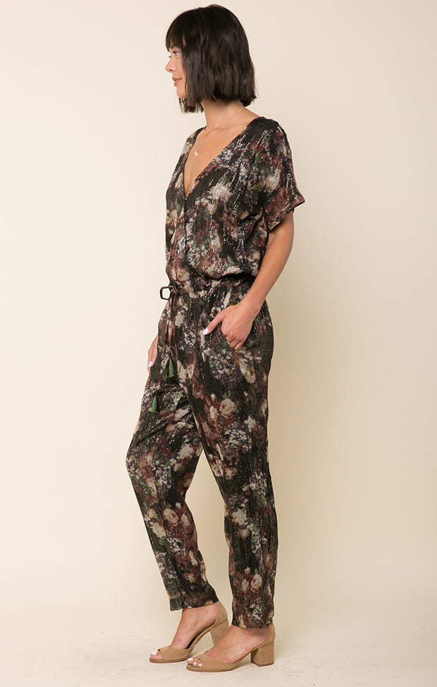 Paint The Night Surplice Jumpsuit