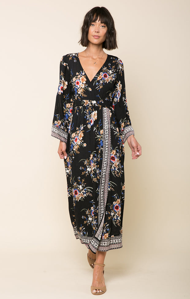 Hidden Garden Wrap Dress