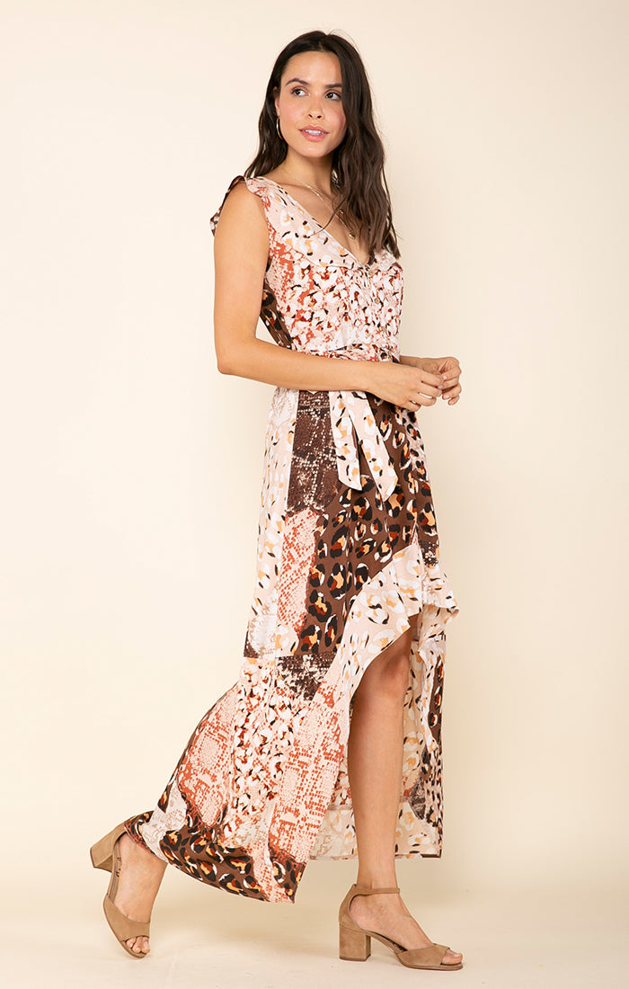 CONGO BELTED HI-LOW DRESS