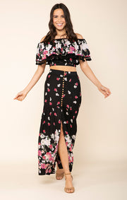 Rose Meadow Maxi Skirt