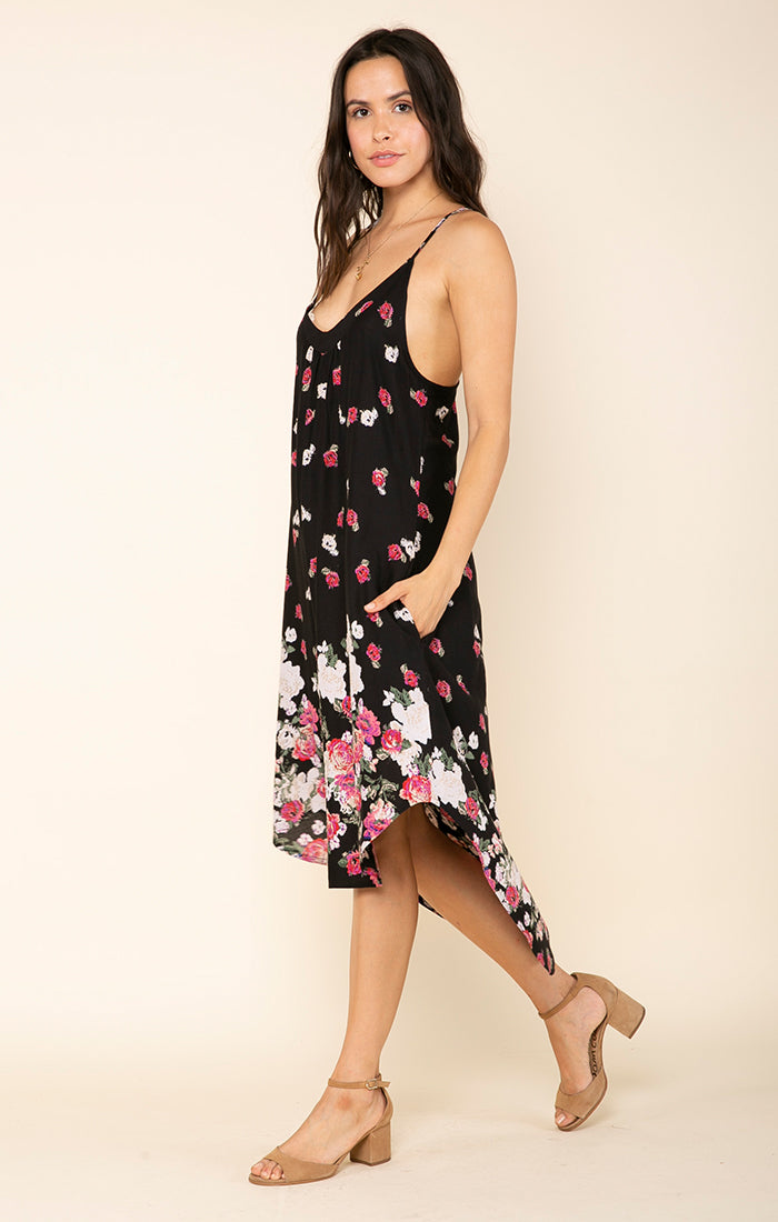 ROSE MEADOW MIDI DRESS
