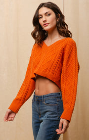 AUBURN CROPPED SWEATER