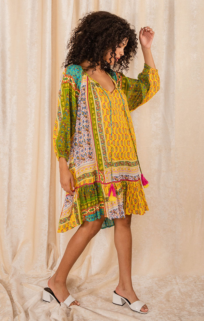 MIXED FEELINGS TUNIC DRESS