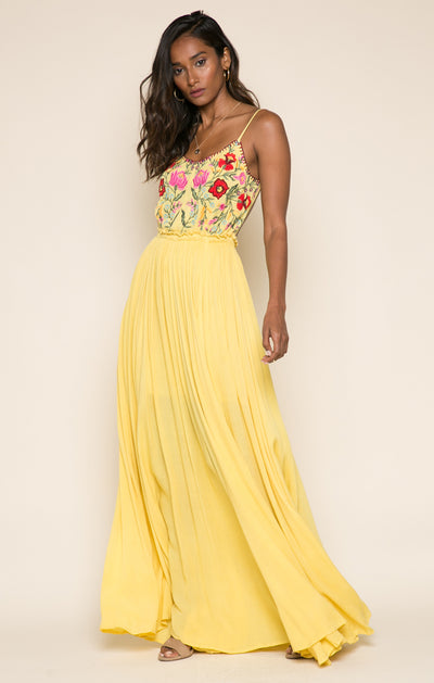 Blooming Lotus Backless Maxi Dress